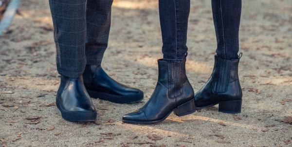természetes bőrből készült cipő