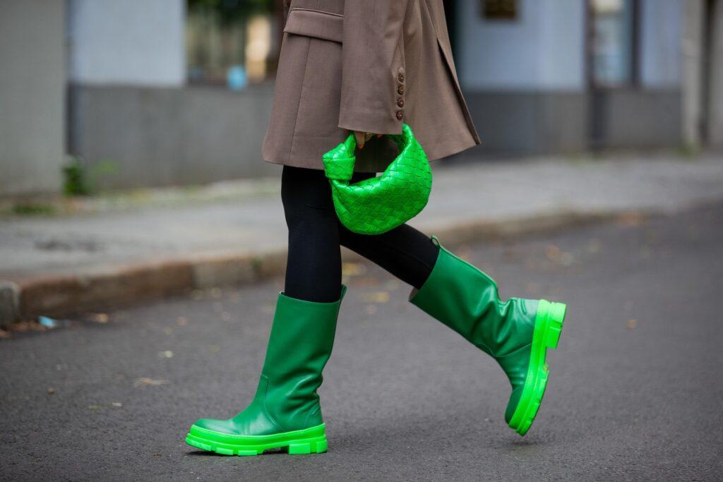 Zöld gumicsizma